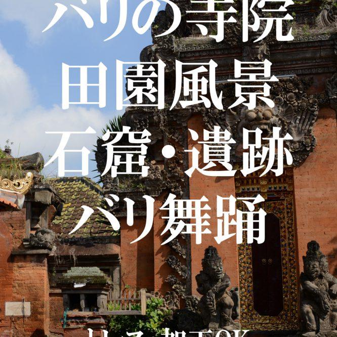 背景資料集バリの寺院・田園風景・石窟・遺跡・バリ舞踊